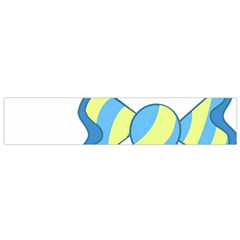 Candy Yellow Blue Flano Scarf (Small)