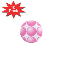 Circle Pink 1  Mini Magnet (10 Pack)