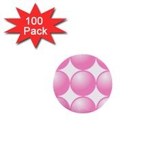 Circle Pink 1  Mini Buttons (100 Pack)