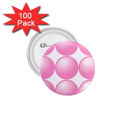 Circle Pink 1 75  Buttons (100 Pack)