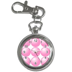 Circle Pink Key Chain Watches