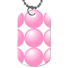 Circle Pink Dog Tag (One Side)
