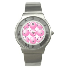 Circle Pink Stainless Steel Watch