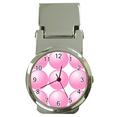 Circle Pink Money Clip Watches