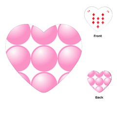 Circle Pink Playing Cards (heart)