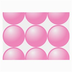 Circle Pink Large Glasses Cloth (2-Side)