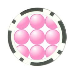 Circle Pink Poker Chip Card Guard