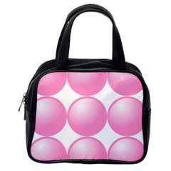 Circle Pink Classic Handbags (One Side)