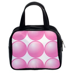 Circle Pink Classic Handbags (2 Sides)