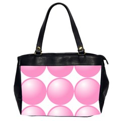 Circle Pink Office Handbags (2 Sides)
