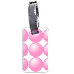 Circle Pink Luggage Tags (One Side)
