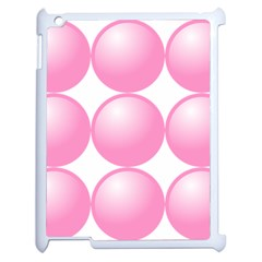 Circle Pink Apple iPad 2 Case (White)
