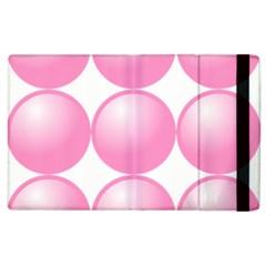 Circle Pink Apple iPad 3/4 Flip Case