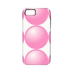 Circle Pink Apple iPhone 5 Classic Hardshell Case (PC+Silicone)