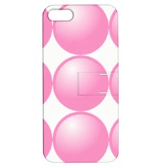 Circle Pink Apple iPhone 5 Hardshell Case with Stand