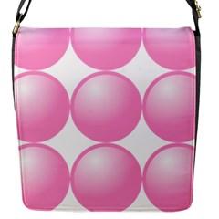 Circle Pink Flap Messenger Bag (S)