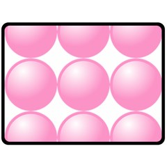 Circle Pink Double Sided Fleece Blanket (Large)