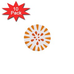 Circle Orange 1  Mini Buttons (10 pack)