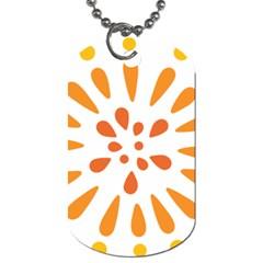 Circle Orange Dog Tag (one Side)