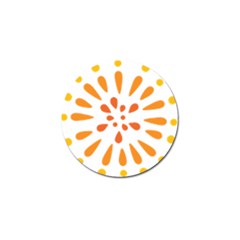 Circle Orange Golf Ball Marker (10 pack)