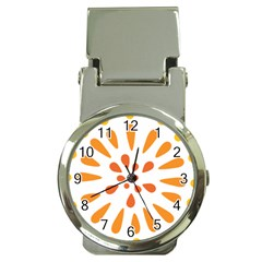 Circle Orange Money Clip Watches