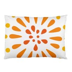 Circle Orange Pillow Case