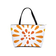 Circle Orange Shoulder Handbags