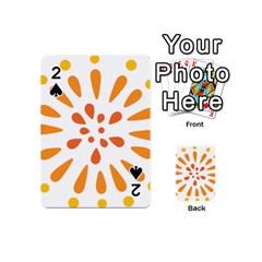 Circle Orange Playing Cards 54 (Mini)
