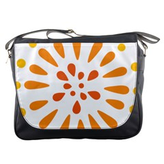 Circle Orange Messenger Bags