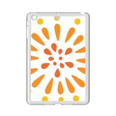 Circle Orange iPad Mini 2 Enamel Coated Cases