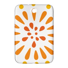 Circle Orange Samsung Galaxy Note 8.0 N5100 Hardshell Case