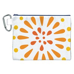 Circle Orange Canvas Cosmetic Bag (XXL)