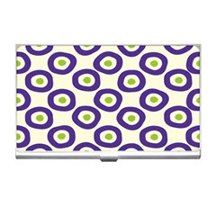 Circle Purple Green White Business Card Holders