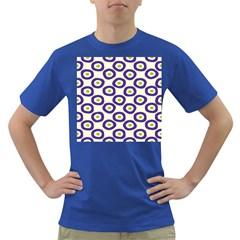Circle Purple Green White Dark T-Shirt