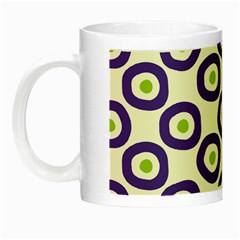 Circle Purple Green White Night Luminous Mugs