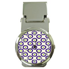 Circle Purple Green White Money Clip Watches