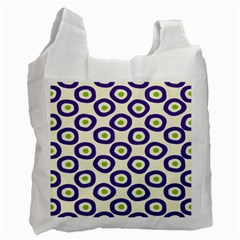 Circle Purple Green White Recycle Bag (One Side)
