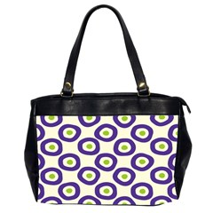 Circle Purple Green White Office Handbags (2 Sides)