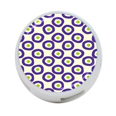 Circle Purple Green White 4-Port USB Hub (Two Sides)