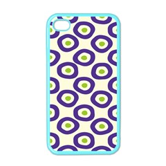 Circle Purple Green White Apple iPhone 4 Case (Color)
