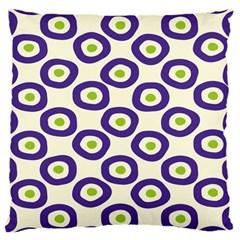 Circle Purple Green White Large Cushion Case (One Side)