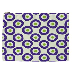 Circle Purple Green White Cosmetic Bag (XXL)