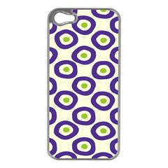 Circle Purple Green White Apple iPhone 5 Case (Silver)