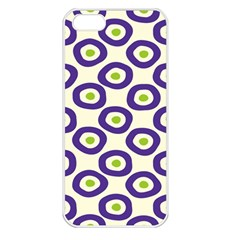 Circle Purple Green White Apple iPhone 5 Seamless Case (White)