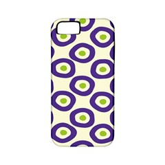 Circle Purple Green White Apple iPhone 5 Classic Hardshell Case (PC+Silicone)