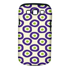 Circle Purple Green White Samsung Galaxy S III Classic Hardshell Case (PC+Silicone)