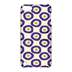 Circle Purple Green White Apple iPod Touch 5 Hardshell Case with Stand