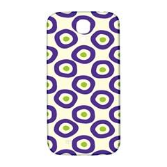 Circle Purple Green White Samsung Galaxy S4 I9500/I9505  Hardshell Back Case