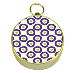 Circle Purple Green White Gold Compasses