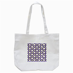 Circle Purple Green White Tote Bag (White)